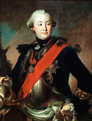 Григорий Орлов, один из руководителей переворота. Портрет кисти Фёдора Рокотова, 1762—1763