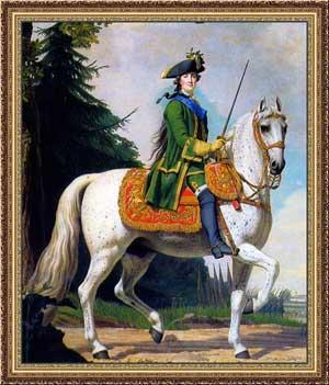 Виргилиус Эриксен. Конный портрет Екатерины Великой